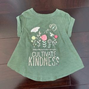Old Navy 'Cultivate Kindness' flower shirt, 12-18
